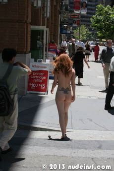 Amber full public nudity San Francisco Financial District beautiful young girl nudeinsf spread pussy ass tits