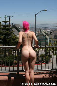 Fushia full public nudity San Francisco Ashbury Heights beautiful young girl nudeinsf spread pussy ass tits
