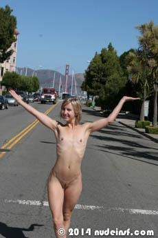 Jenni full public nudity San Francisco Marina District beautiful young girl nudeinsf spread pussy ass tits