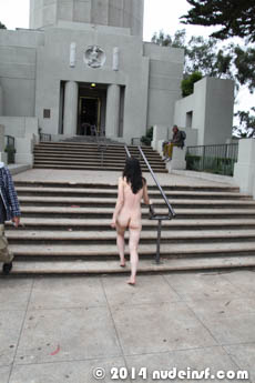 Juliette full public nudity San Francisco Coit Tower beautiful young girl nudeinsf spread pussy ass tits