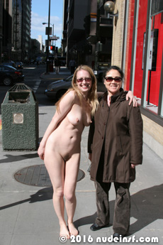 Leila full public nudity San Francisco Financial District beautiful young girl nudeinsf spread pussy ass tits