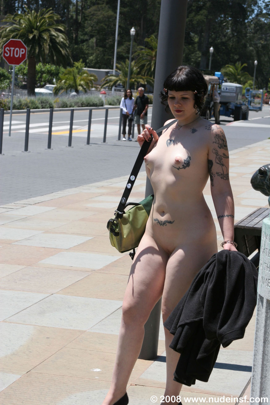 adolescent nude in public
