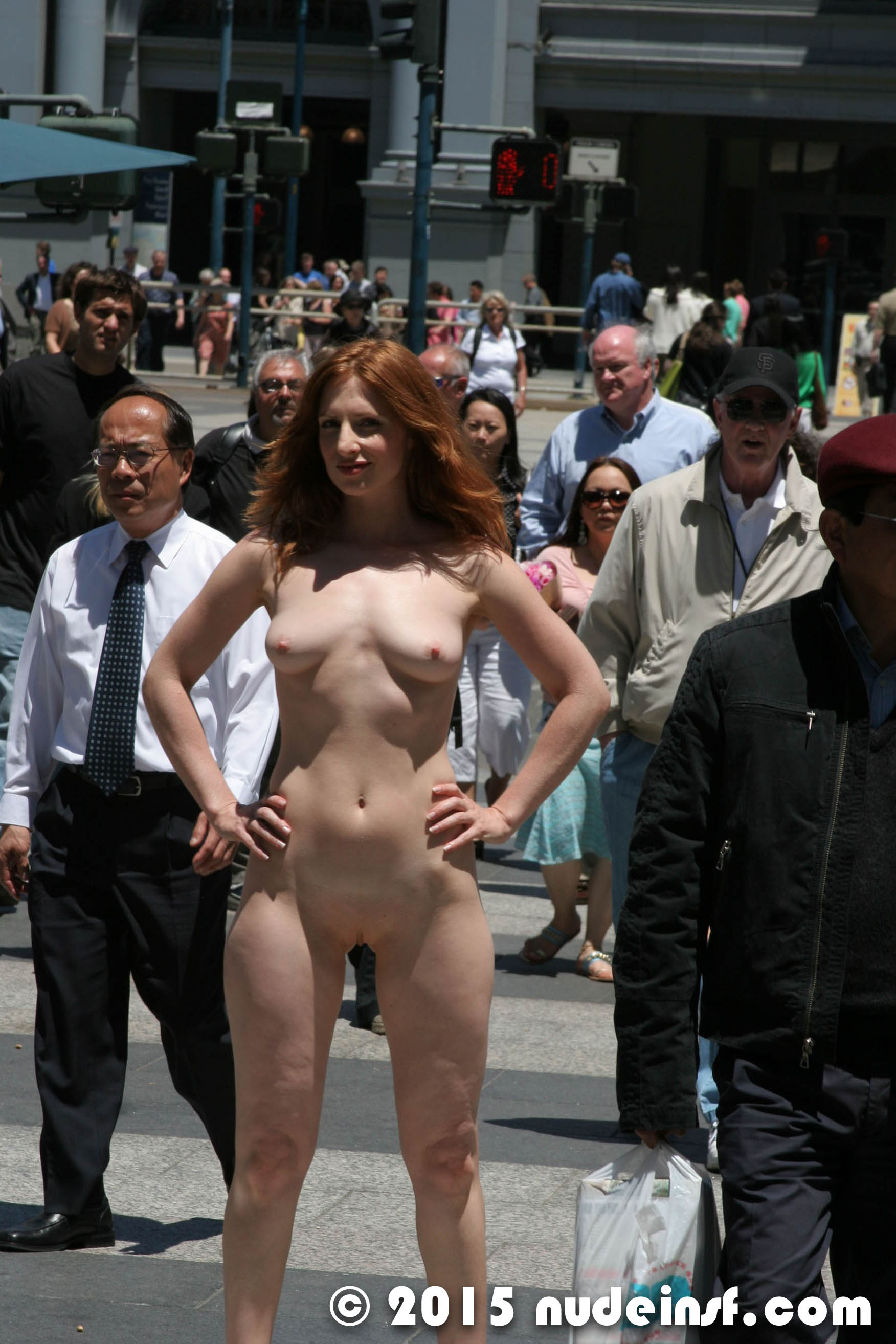 The characters of public nude