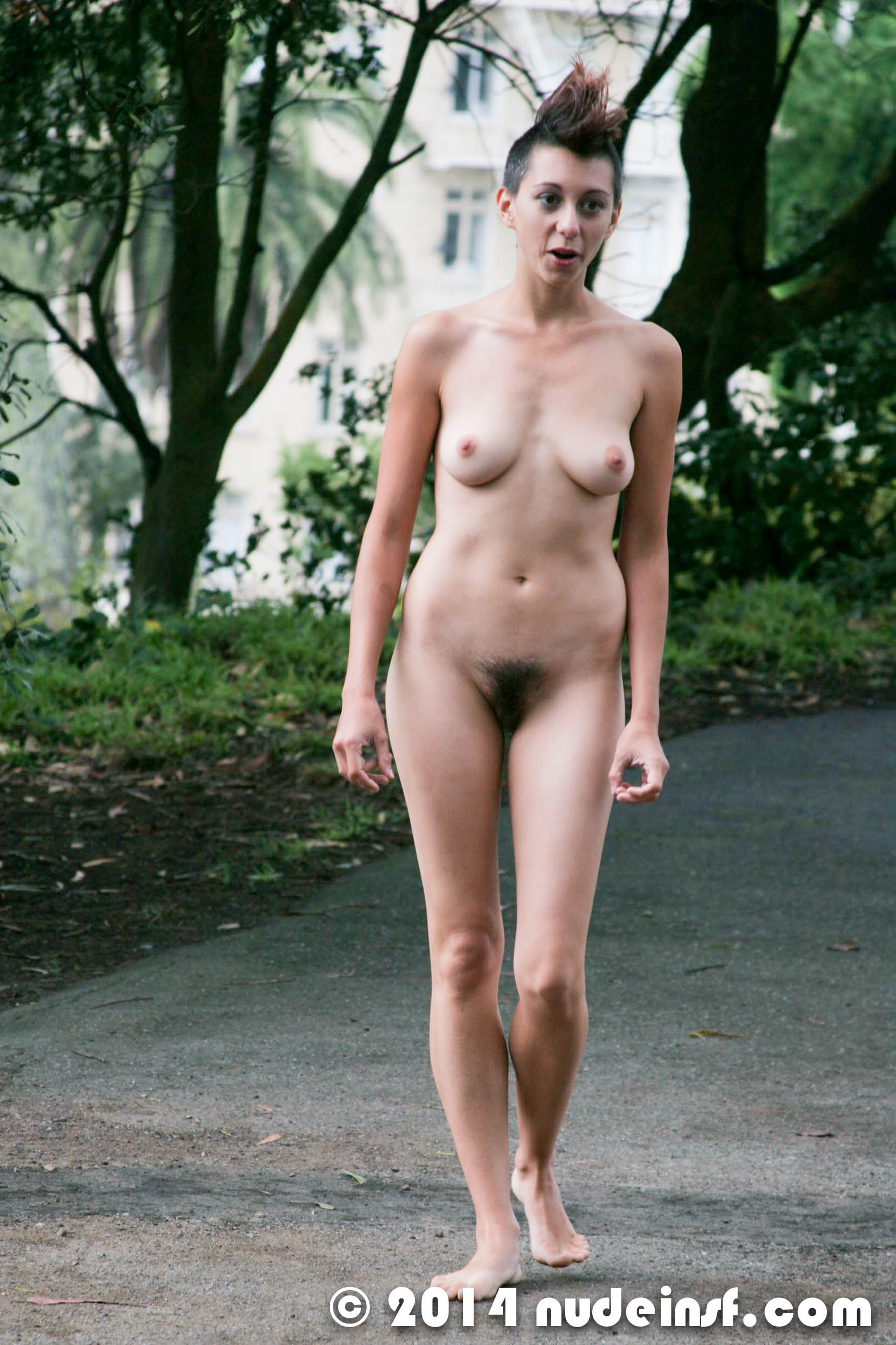Family girl nude embarrassed